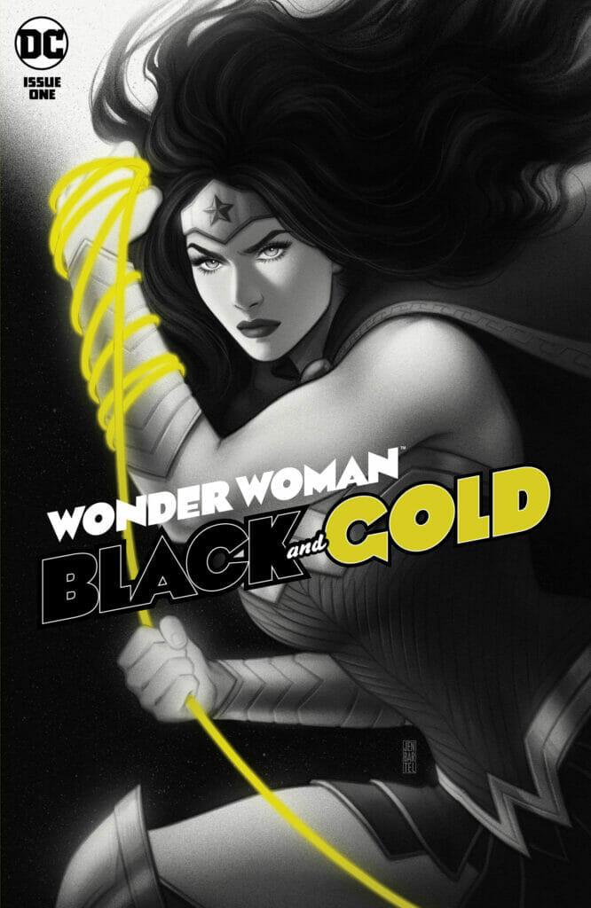 Wonder Woman Black and Gold Jen Bartel The Nerdy Basement