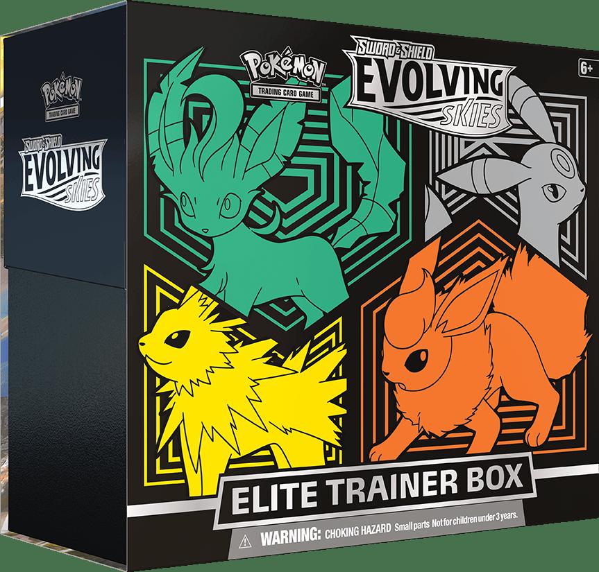 Evolving Skies Elite Trainer Box Eevee The Nerdy Basement