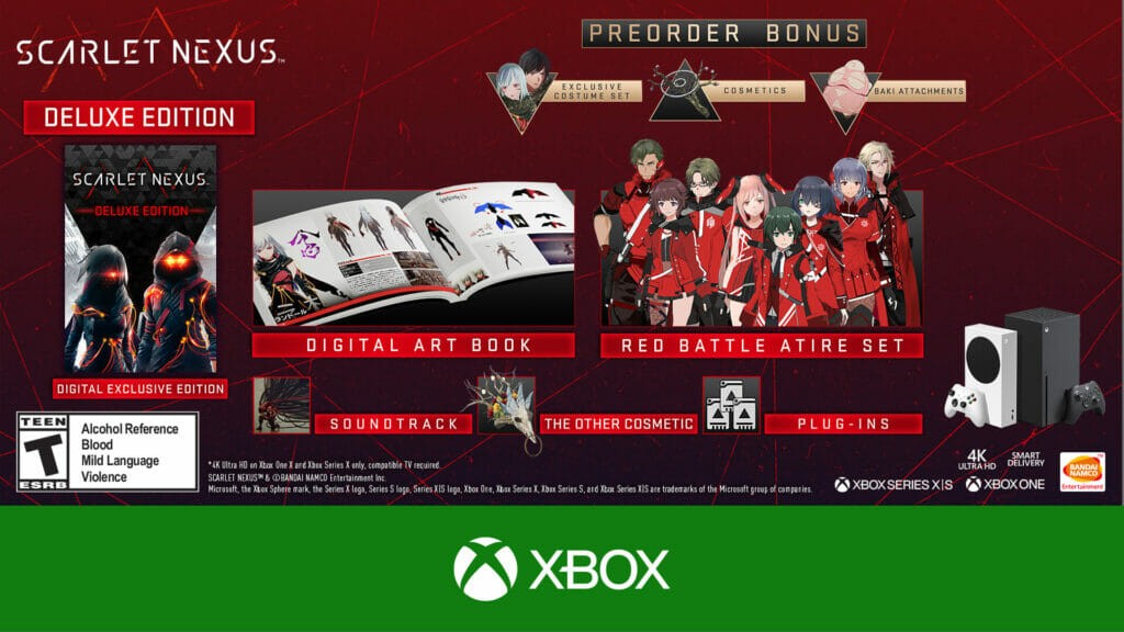 Scarlet Nexus Deluxe Edition Xbox One The Nerdy Basement
