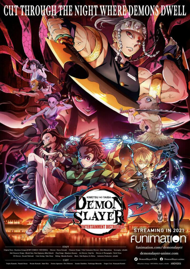 Demon Slayer: Kimetsu No Yaiba Entertainment District Arc Funimation 2021 The Nerdy Basement