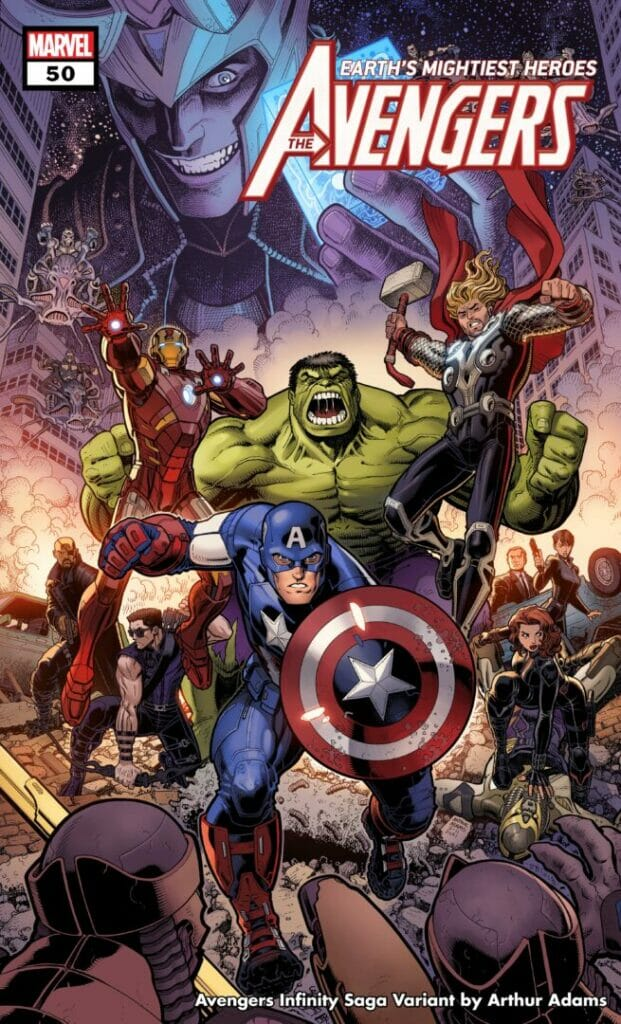 Marvel Comics Avengers 50 Infinity Saga Variant Cover The Nerdy Basement