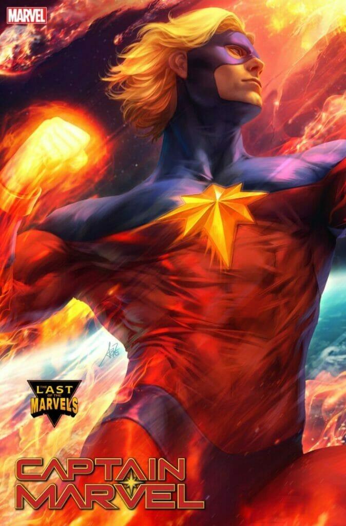 Captain Marvel #34 Mar-Vell Artgerm Variant Cover The Nerdy Basement