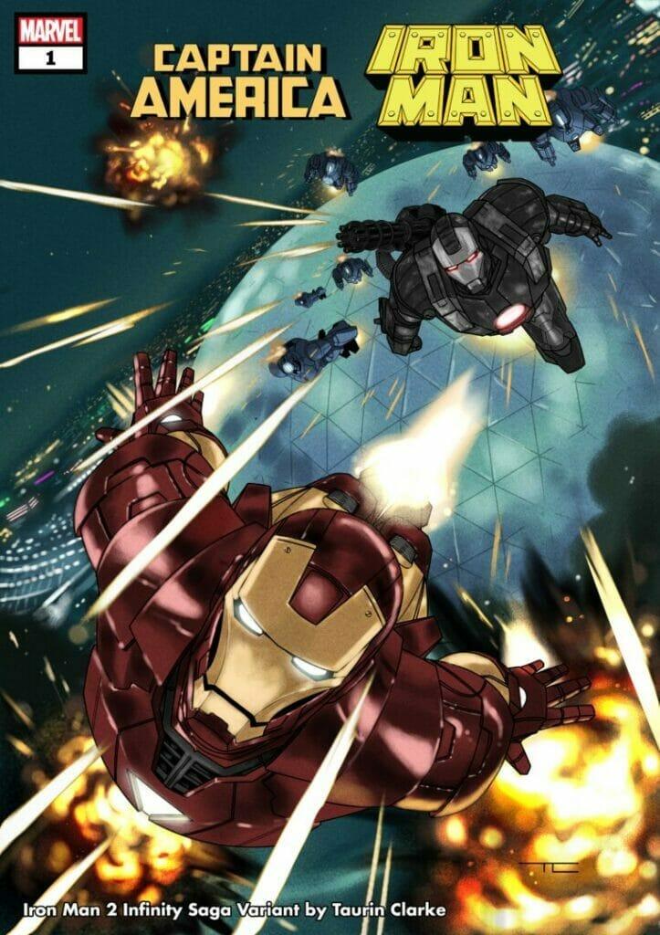 Captain America/Iron Man 1 Infinity Saga Variant Cover The Nerdy Basement