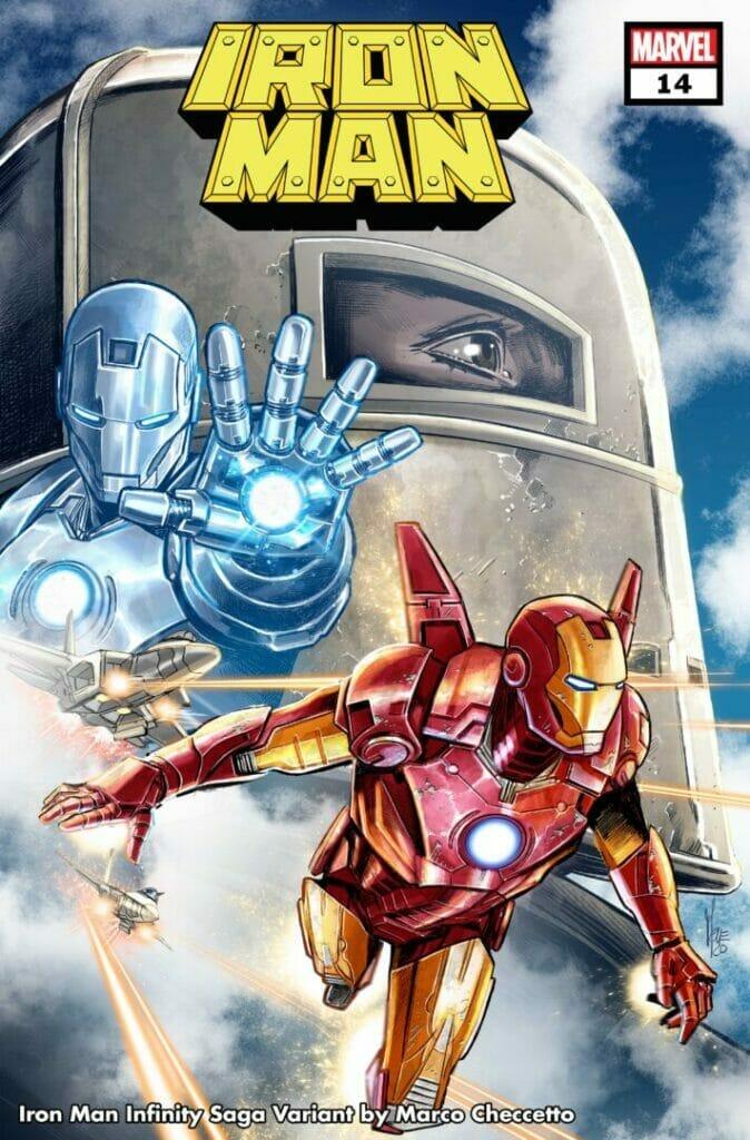 Marvel Comics Iron Man #14 Infinity Saga Variant Cover The Nerdy Basement
