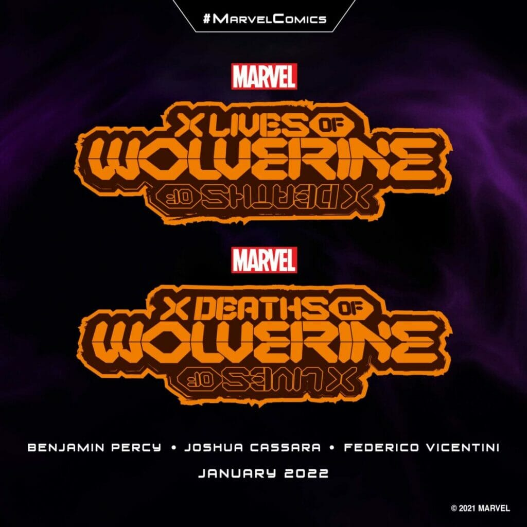 """Marvel Comics """"X Lives of Wolverine"""" """"X Deaths of Wolverine"""" The Nerdy Basement"""